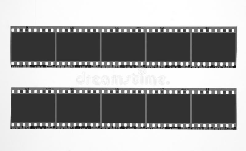 Film. Blank film strips stock photography