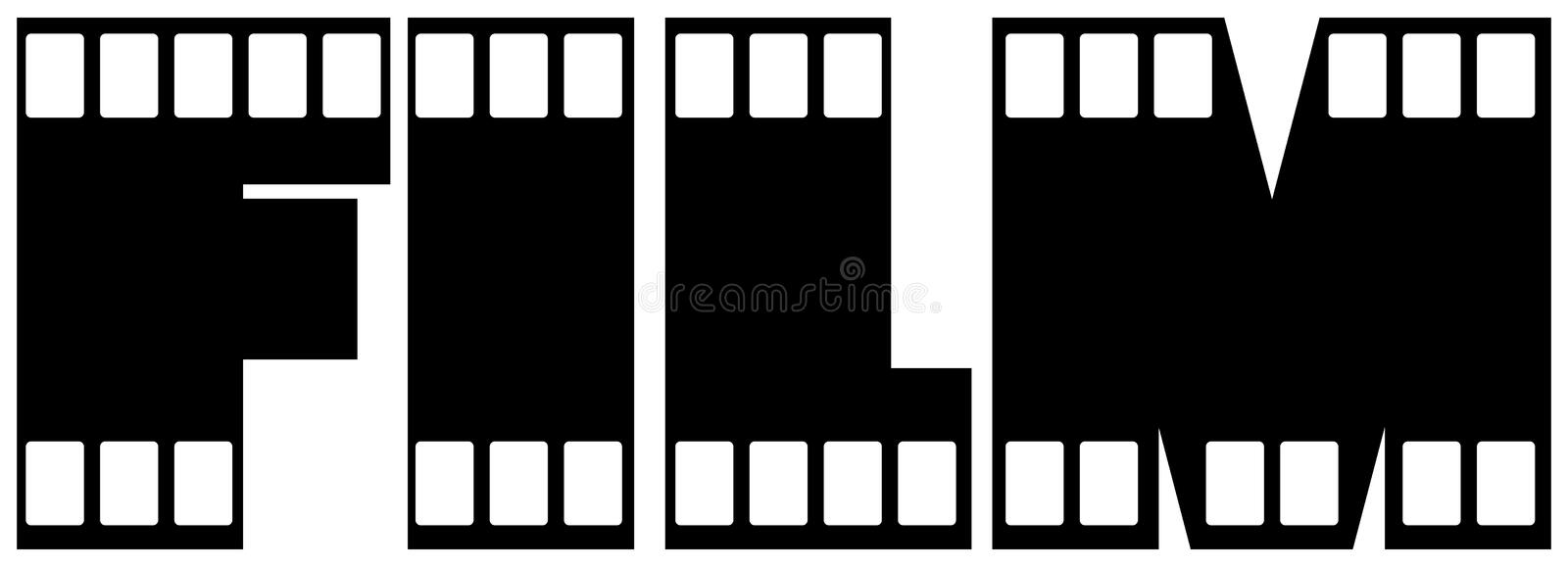 Download Film stock vector. Illustration of picture, letters, isolated - 15185609
