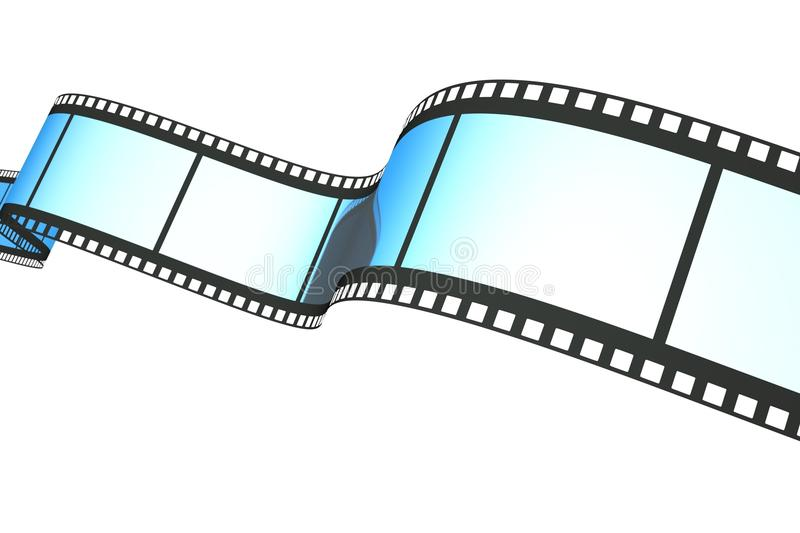 Film. A reel of film on white vector illustration