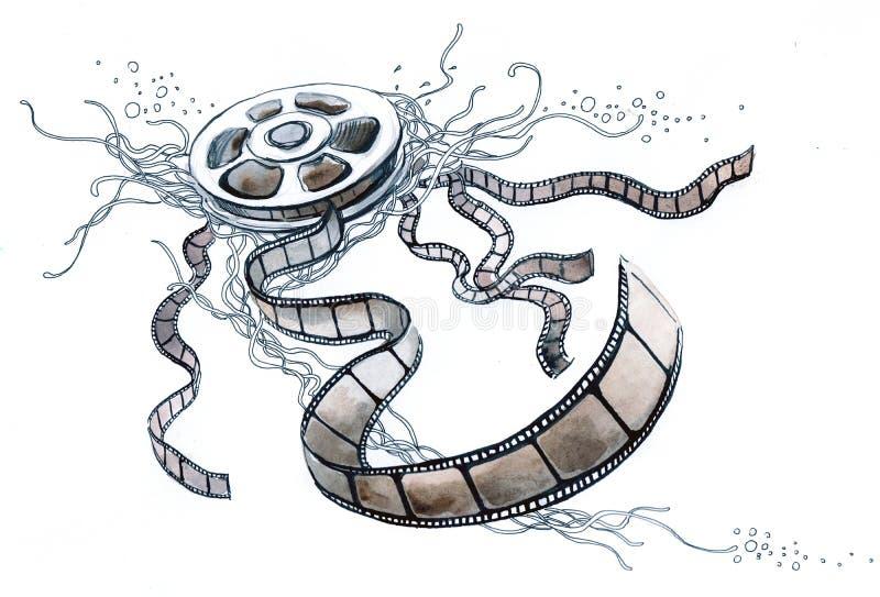 Film illustration de vecteur