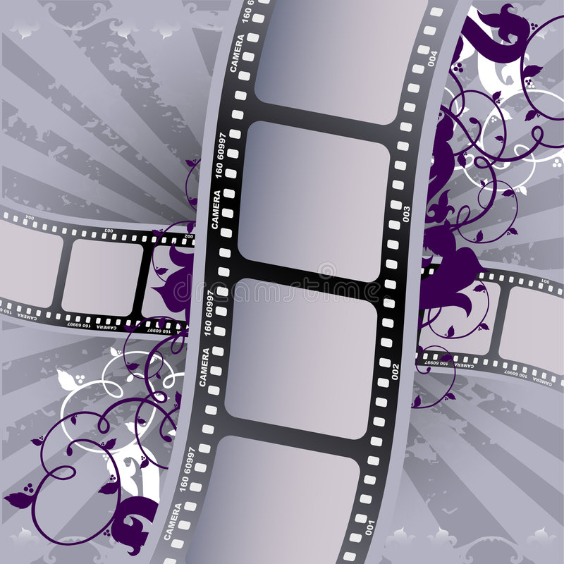 Film. On the gray background stock illustration
