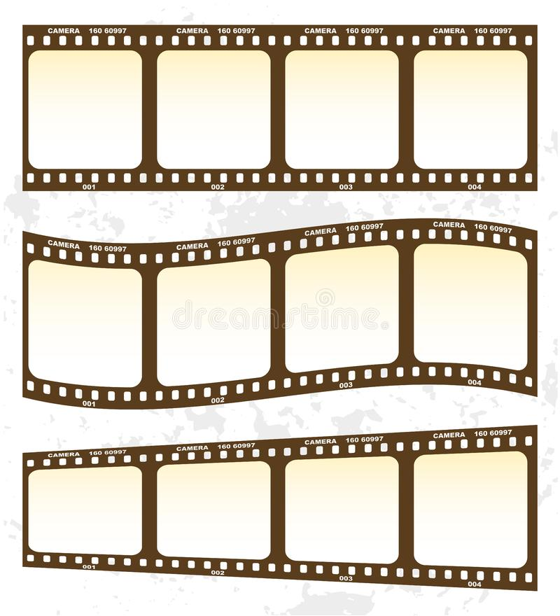 Film. On the white background stock illustration