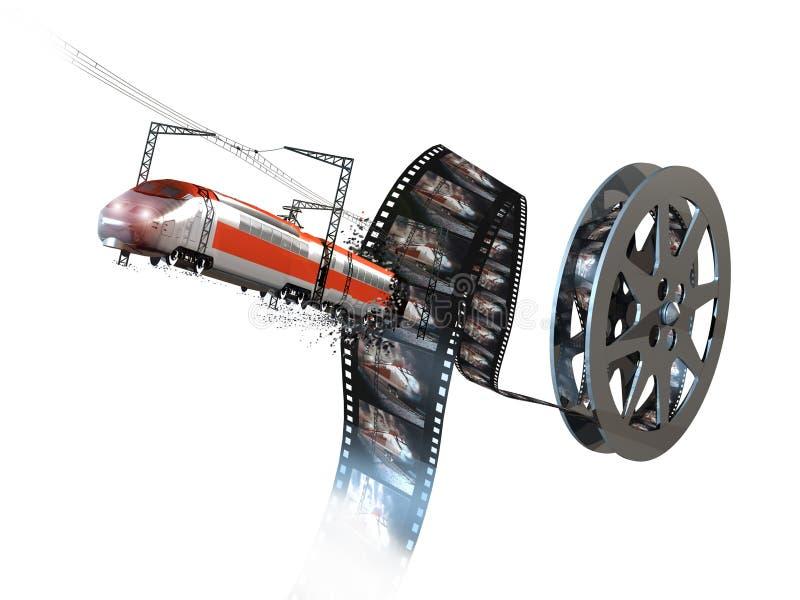 film 3D illustrazione di stock