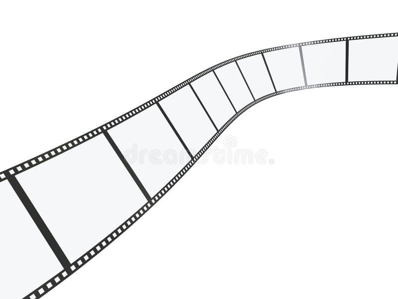 film 3d royaltyfri illustrationer