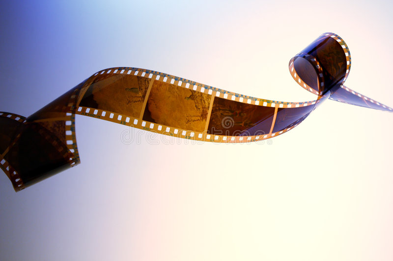 Film. 35 mm film on abstract background royalty free stock image