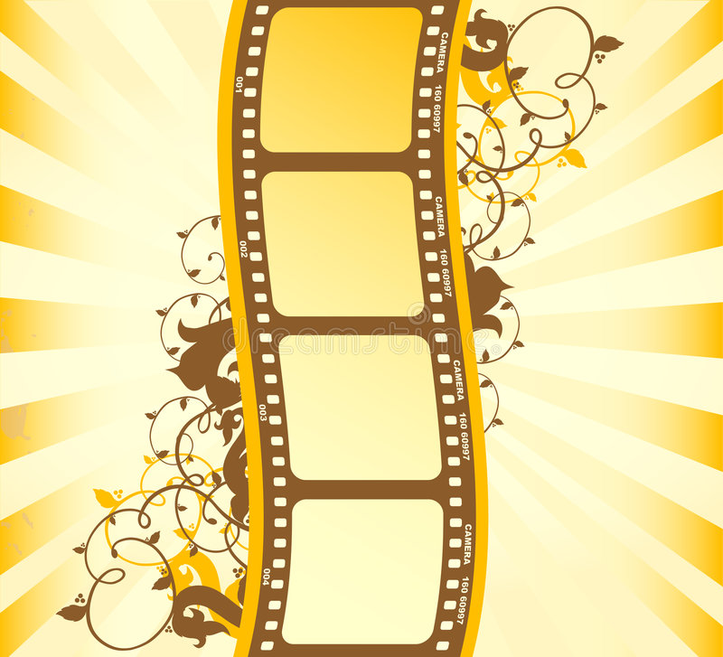 Film. On the abstract background vector illustration