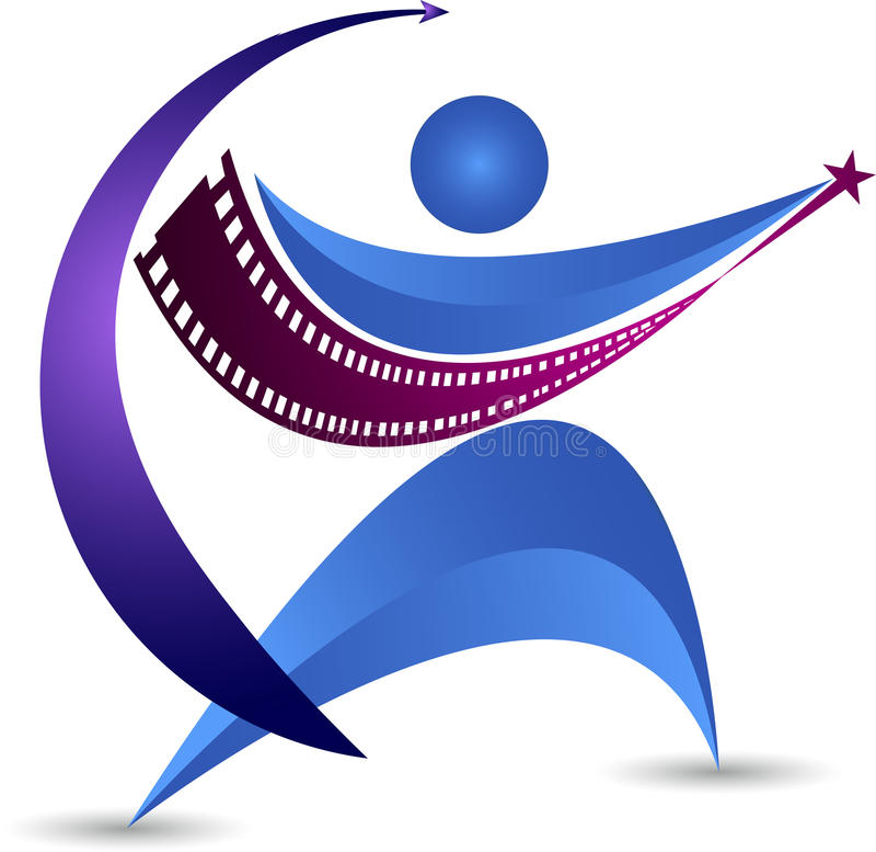 Film acting logo. Illustration art of a film acting logo with background vector illustration