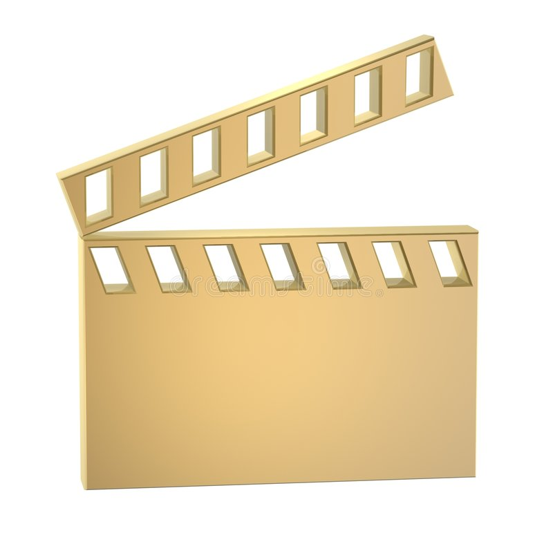 Film action clapperboard royalty free illustration