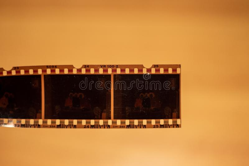Film of analogic camera. royalty free stock photography