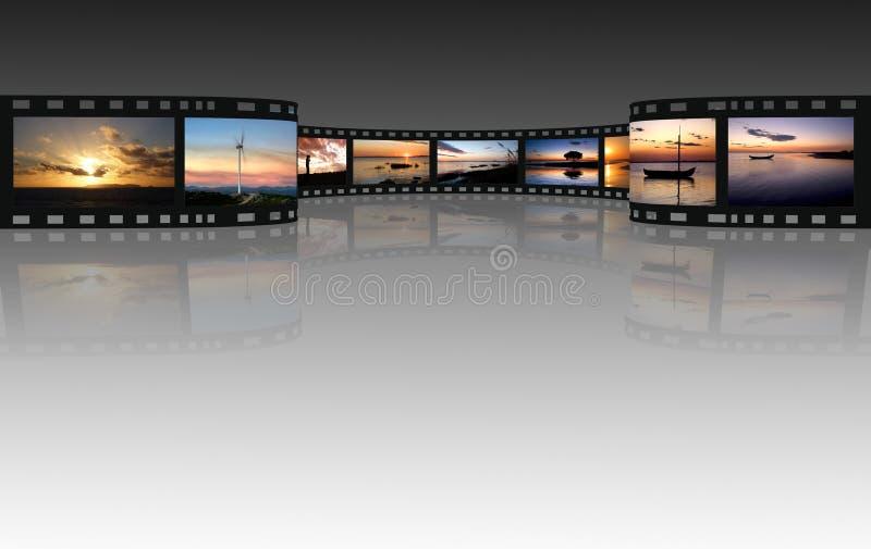 Film auf einem Weiß lizenzfreie abbildung