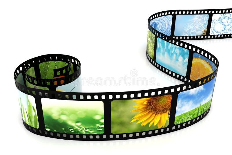 Film avec des images illustration stock