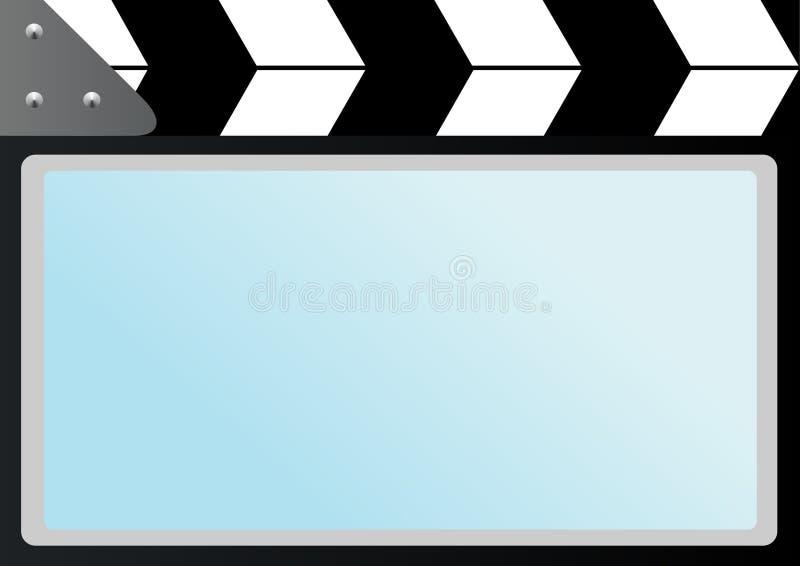 Film avec l'écran de cinéma de comique illustration stock