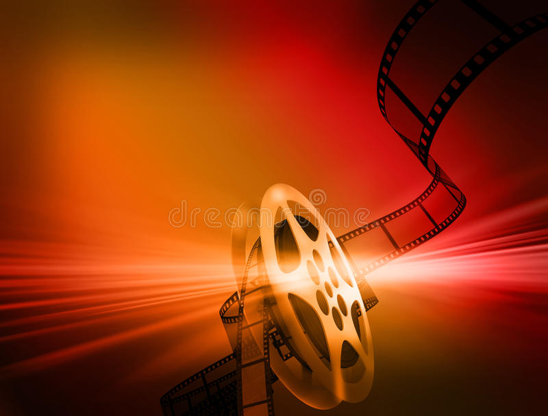 Film background. Reel of 35mm motion picture film vector illustration