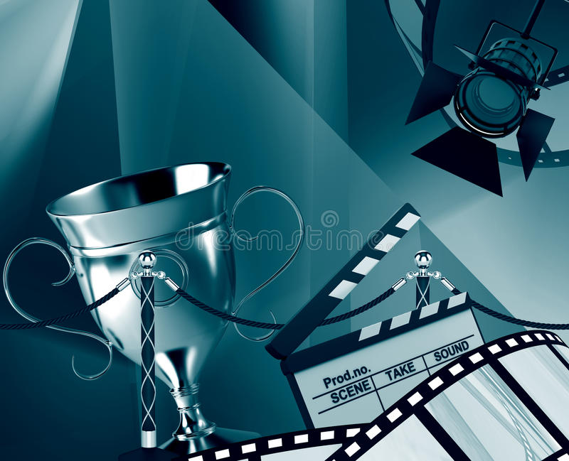 Film background. With the cup royalty free illustration