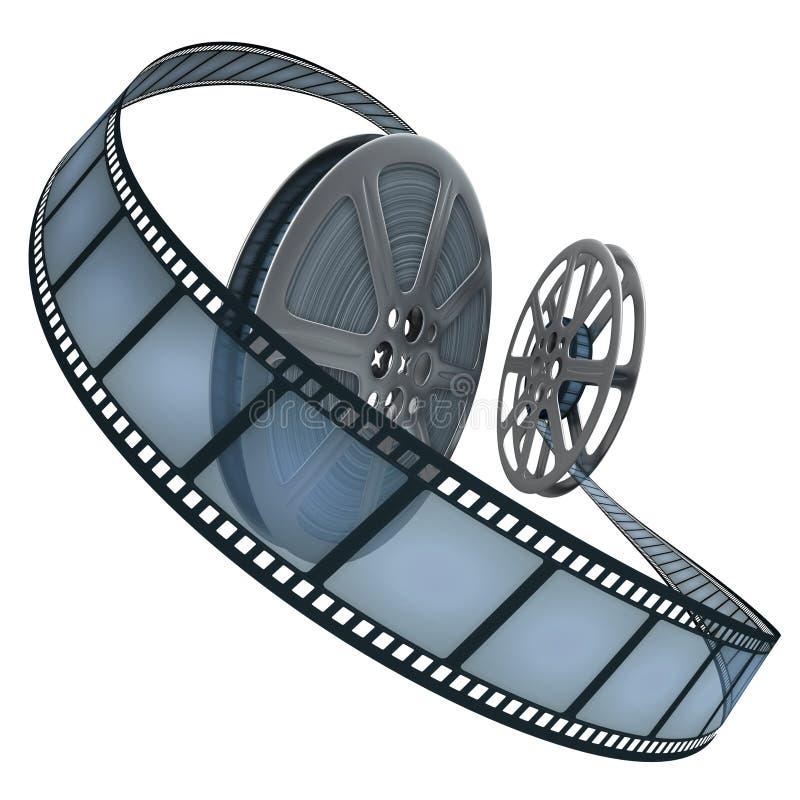 Film-Bandspule über Weiß lizenzfreie abbildung