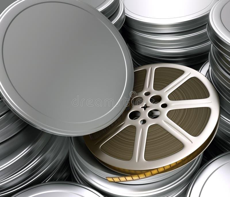 Film-Bandspule (Kästen) lizenzfreie abbildung