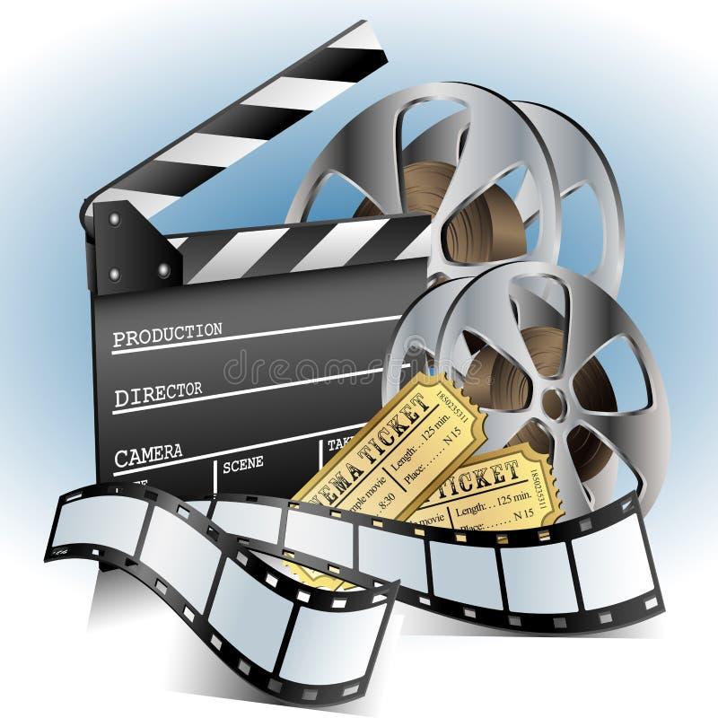 Film bezog sich Einzelteilsatz stock abbildung