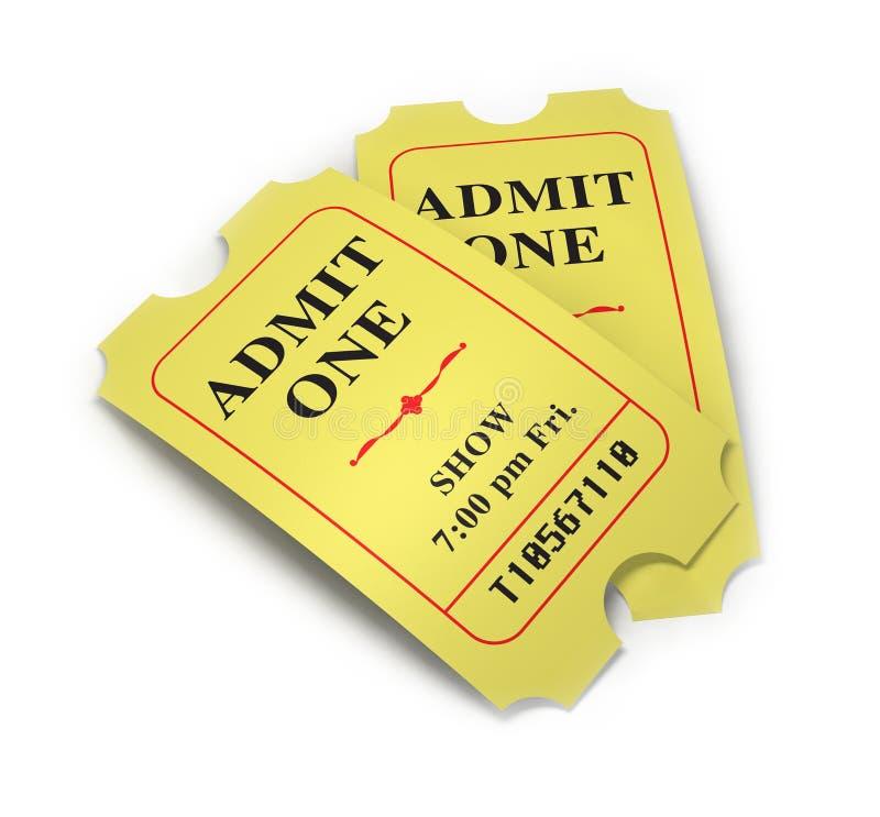 film bilety ilustracji