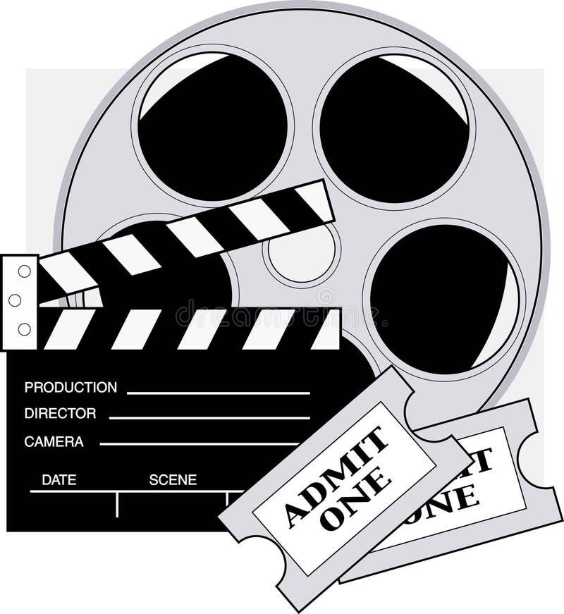 film bilety royalty ilustracja