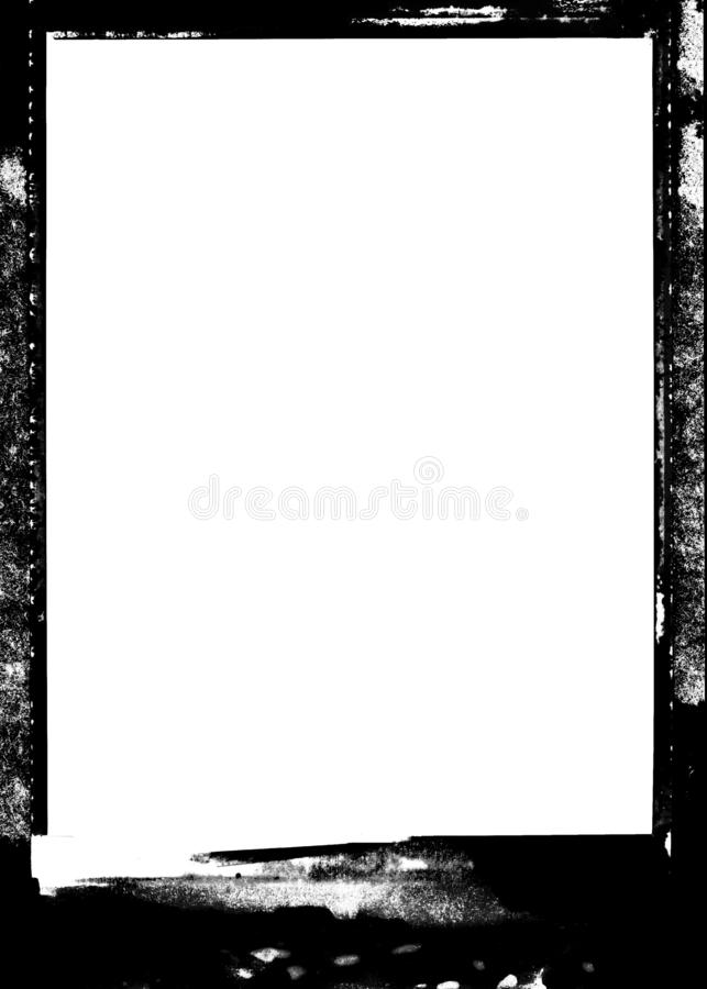 Film Black Decorative Photo Edge/Overlay for Portrait Photos. Abstract black photo edge for portrait photos. Place edge on layer above your photo then apply royalty free stock photo