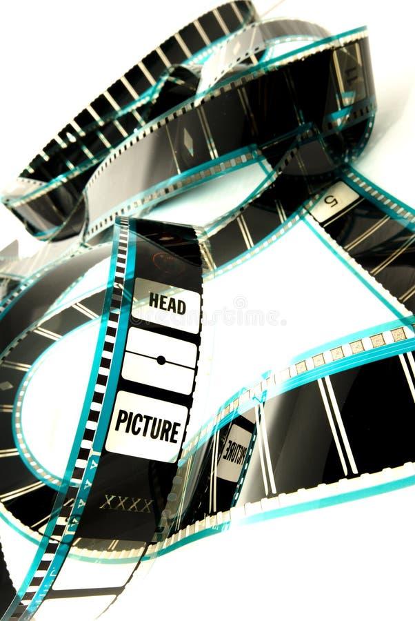 Film blanc de cinéma de celluloïde photo stock