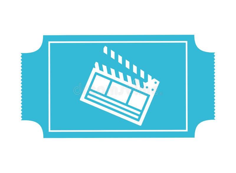 Film bleu de claquette de billet de cin illustration libre de droits