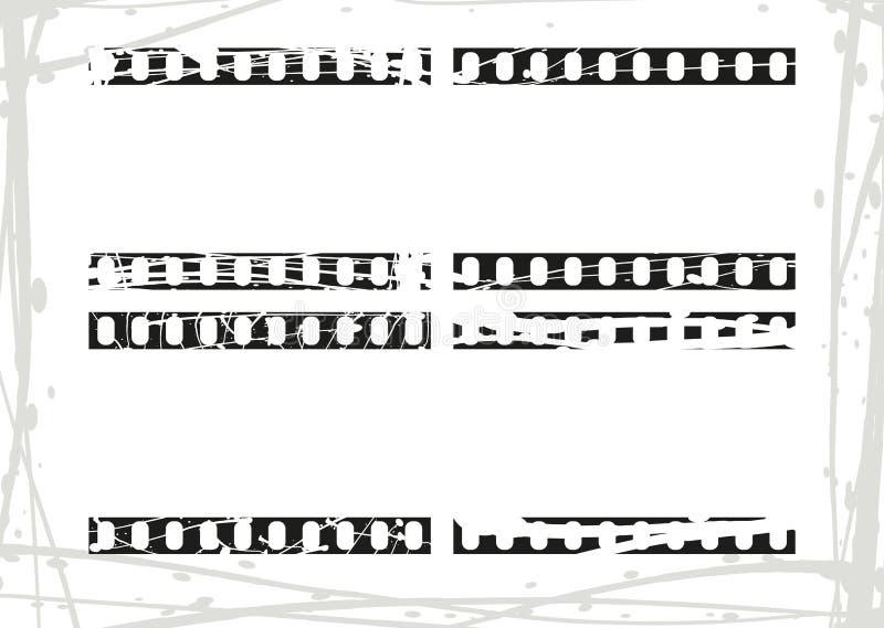 Grunge film border stock illustration  Illustration of