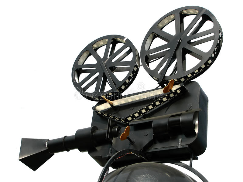 Film Camera. Isolated On White Background royalty free stock photos