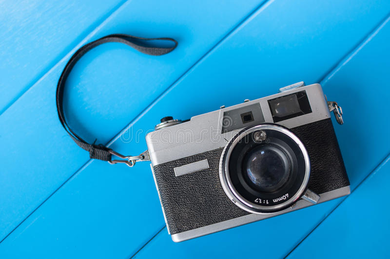 Film camera. S that had been popular in the past stock photography