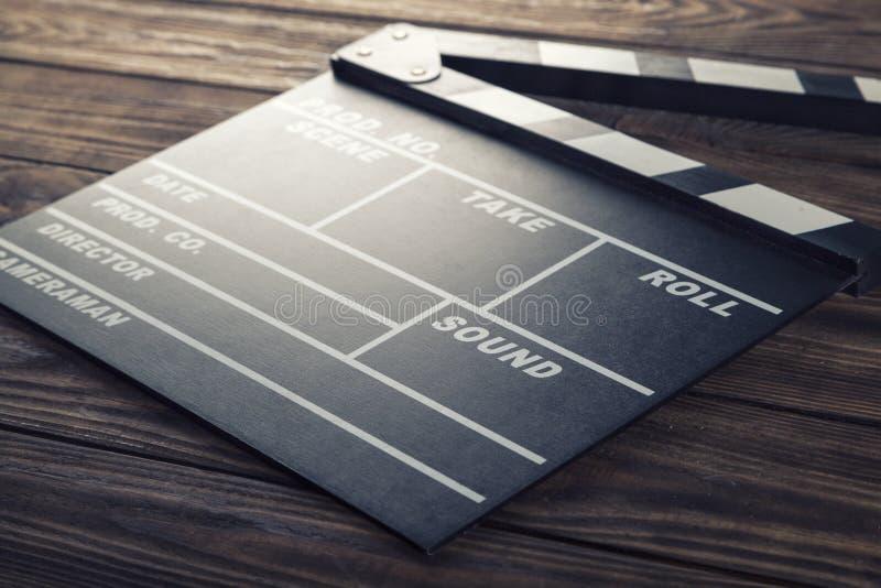Film. Camera chalkboard white clap movie producer stock image