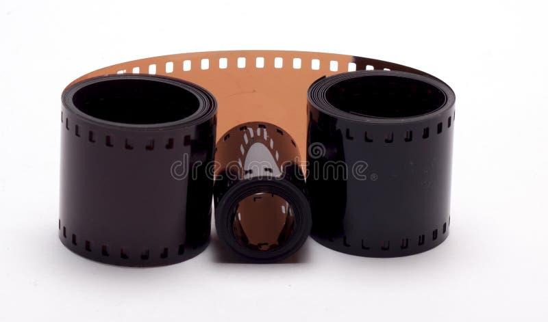 Film camera on white background stock image
