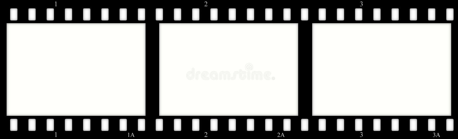 Film(chrome) frames (slides) vector illustration