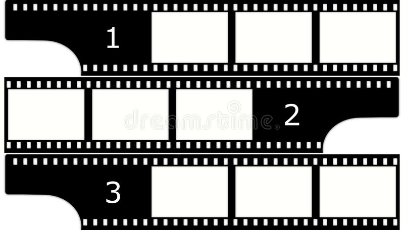 Film(chrome,group) frames (slides) vector illustration