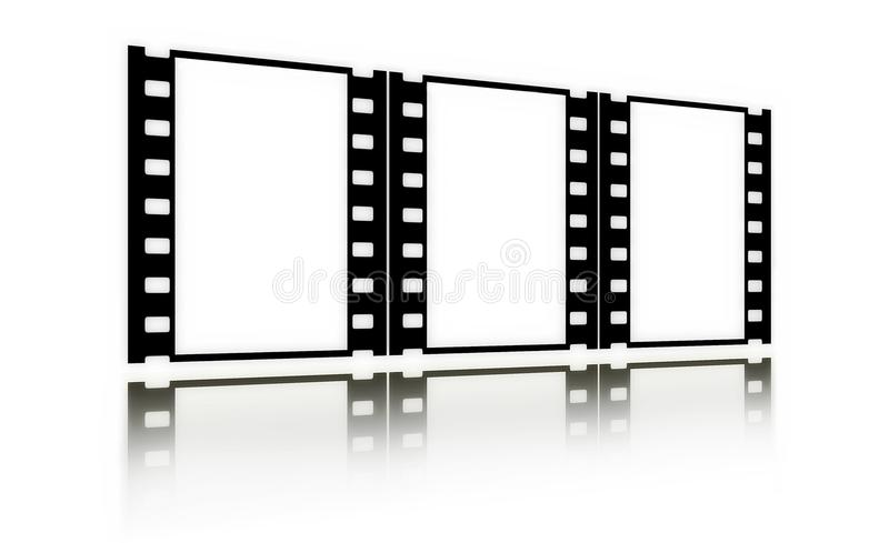 Download Film(chrome,soft)frames(in Perspective,vertical) Royalty Free Stock Photography - Image: 12375747