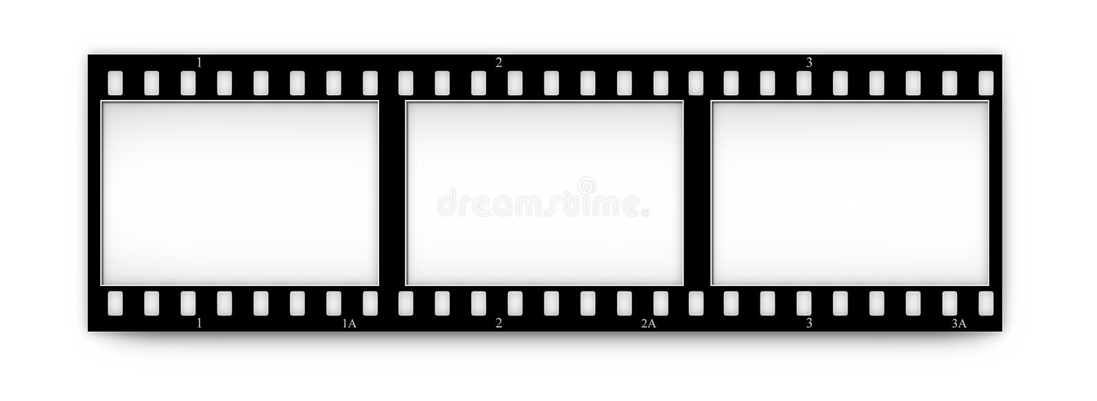 Film(chrome,soft) frames (slides) with in.frames vector illustration