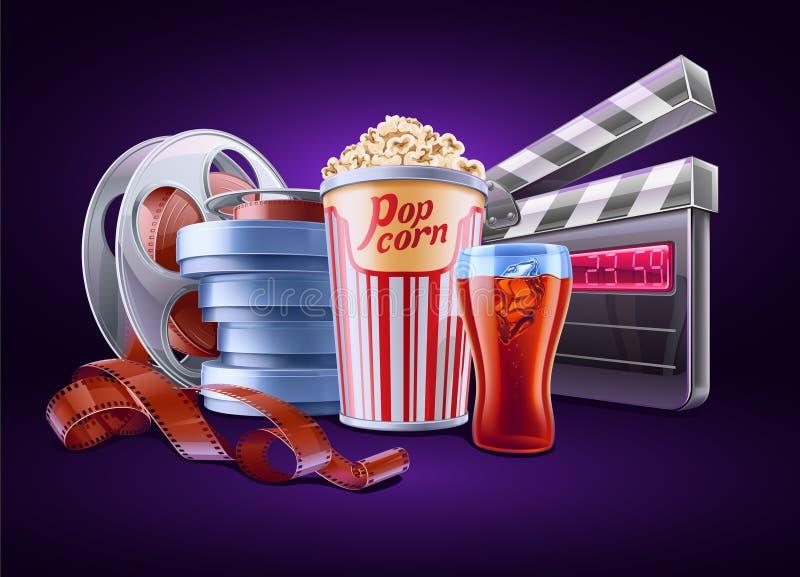 Film, cinéma illustration de vecteur