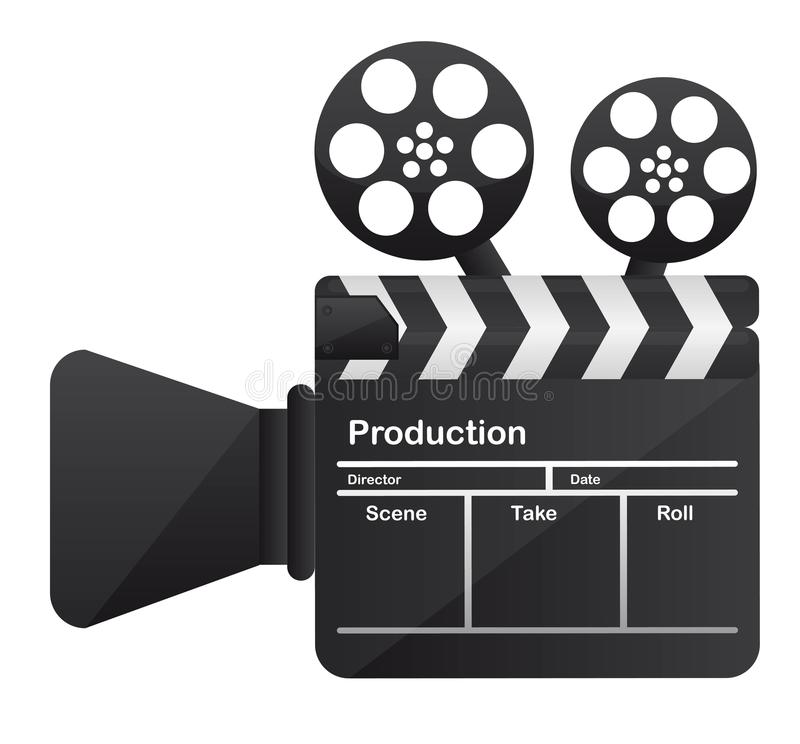 Film cinema camera conceptual royalty free illustration
