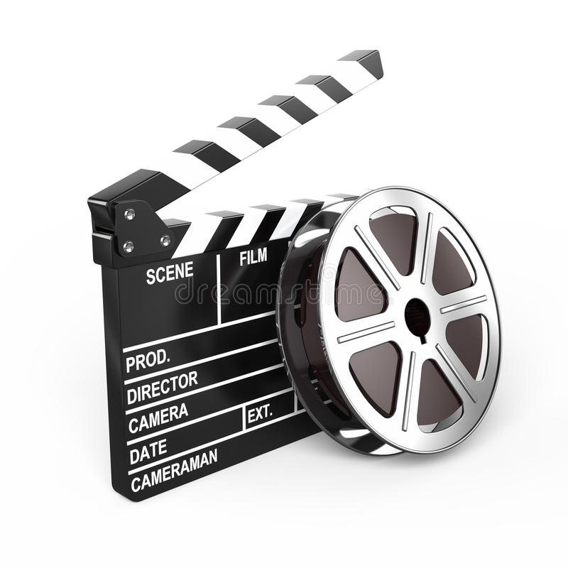 Film and clap board. Video icon royalty free illustration