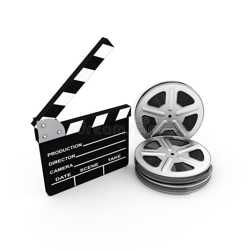 Download Film And Clap Board. Cinema. 3d Stock Illustration - Illustration of occlusion, entertainment: 32894503