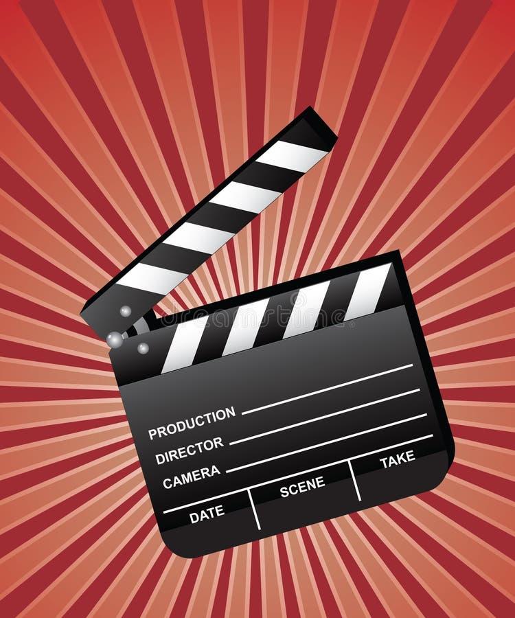 film clapboard otwarte royalty ilustracja