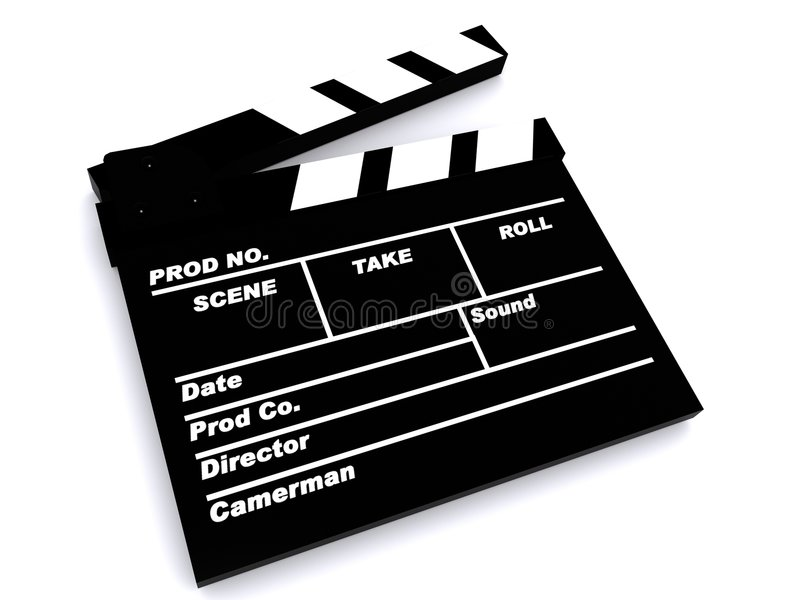Download A film clapper board stock illustration. Image of cinema - 5844780