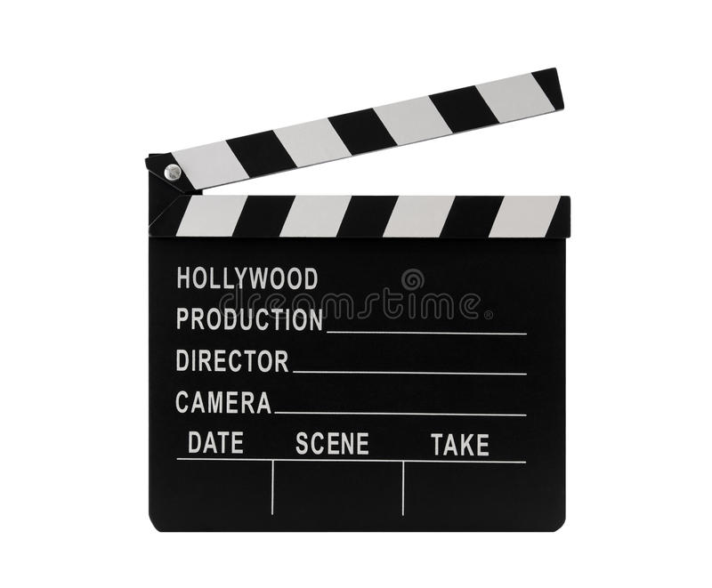 Film clapperboard royalty free stock photo