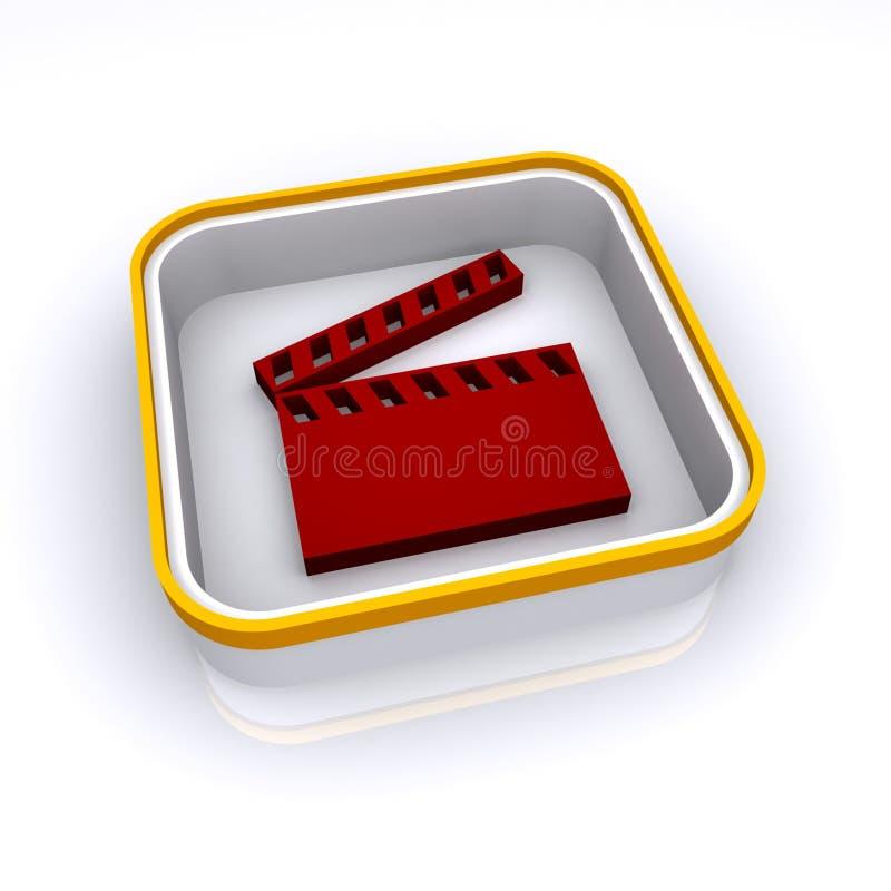 Download Film clapperboard Ikone stock abbildung. Illustration von tätigkeit - 12201563