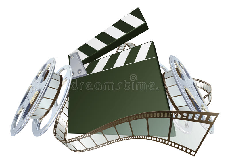 Download Film Clapperboard And Movie Film Reels Stock Image - Image: 20233431