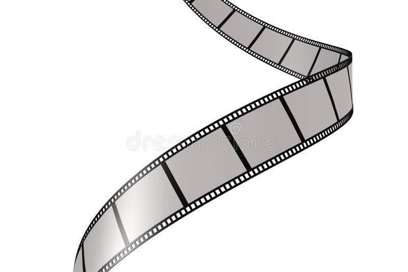 film con fondo bianco illustrazione vettoriale