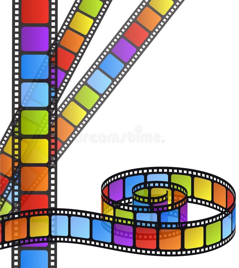 Film couleurs illustration stock