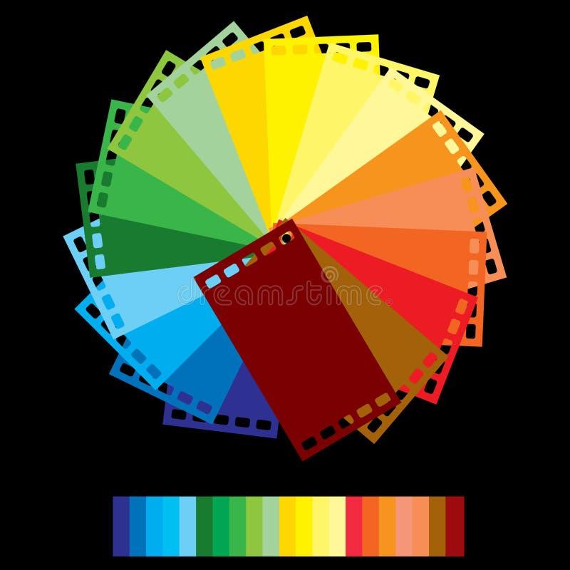 Film couleurs d'arc-en-ciel illustration de vecteur