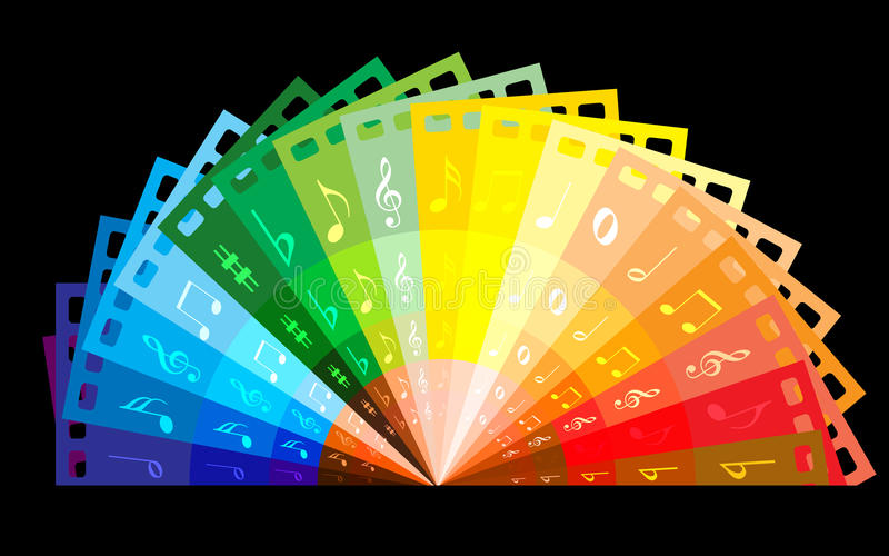 Film couleurs d'arc-en-ciel illustration stock