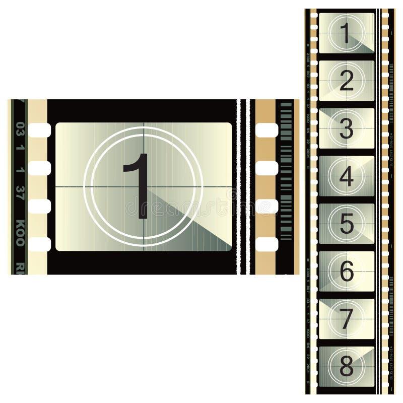 film couleurs de 70mm illustration stock