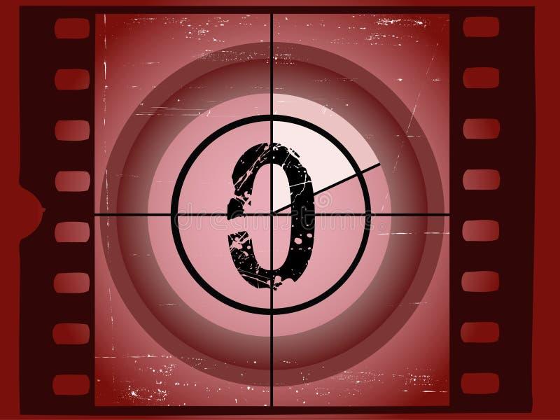Film Countdown - At 0 royalty free illustration